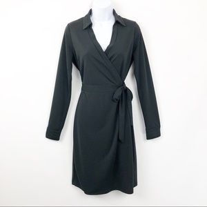 The Limited Long Sleeve Wrap Dress Black